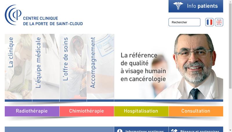 Capture d'écran du site de Centre Clinique Porte St Cloud
