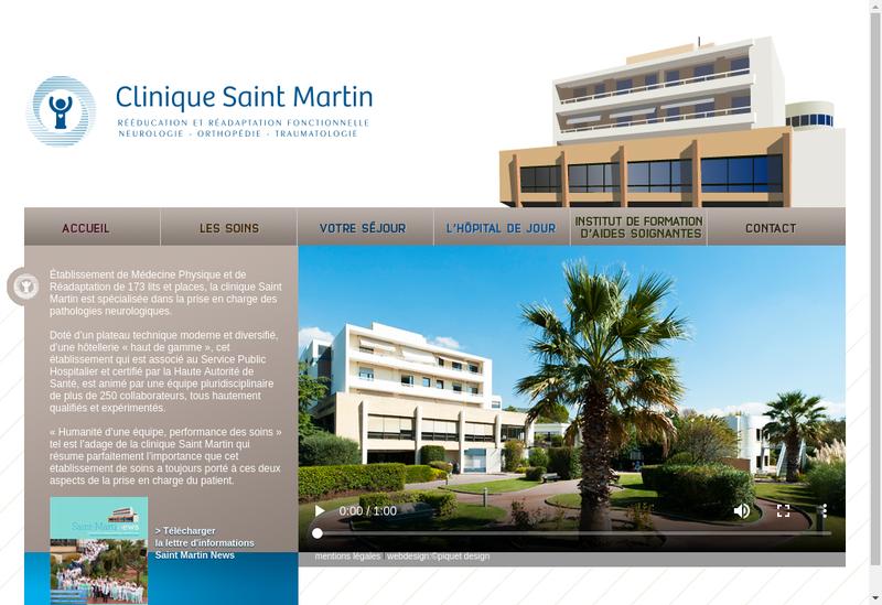 Capture d'écran du site de Clinique Saint Martin