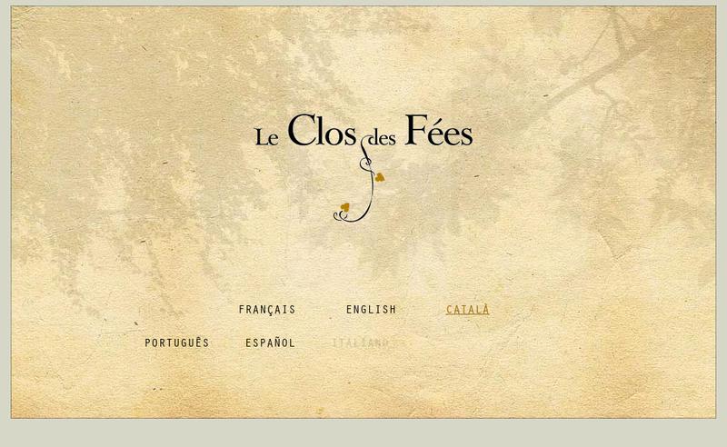 Capture d'écran du site de Domaine du Clos des Fees