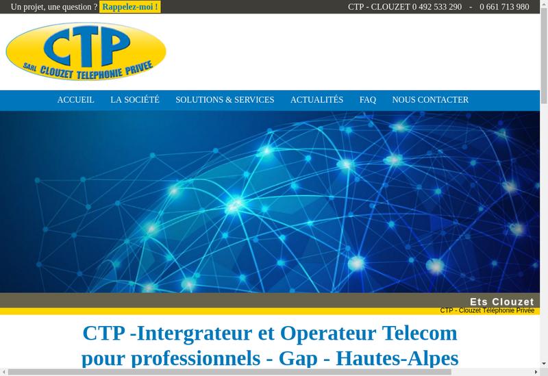 Capture d'écran du site de CTP Clouzet Telephonie Privee