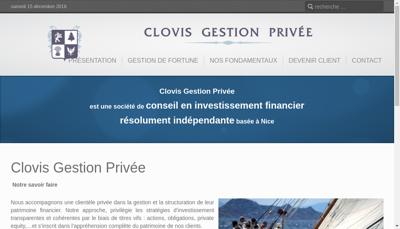Capture d'écran du site de Societe de Gestion Privee