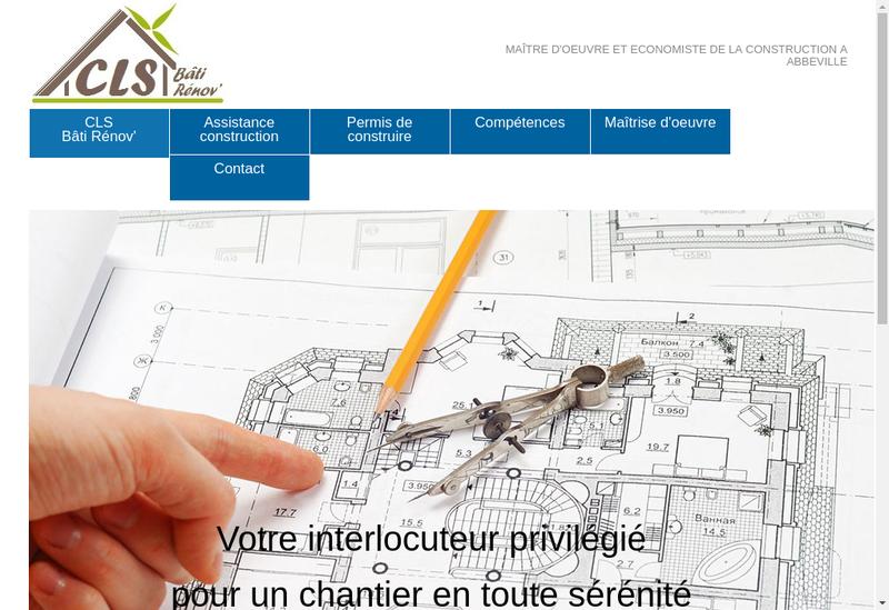 Capture d'écran du site de Cls Bati Renov