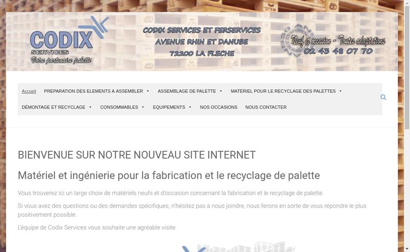 Capture d'écran du site de Codix Services