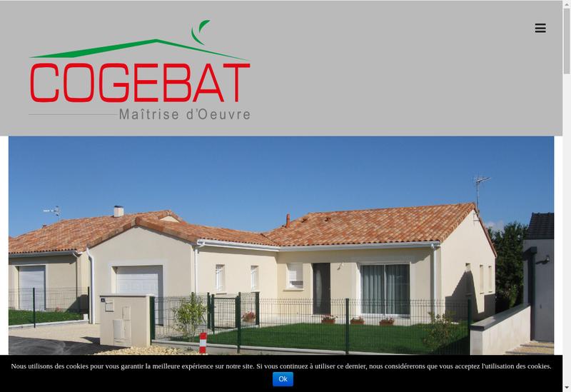 Capture d'écran du site de Cogebat Maitrise d'Oeuvre