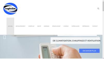 Capture d'écran du site de Cogeclim Sante