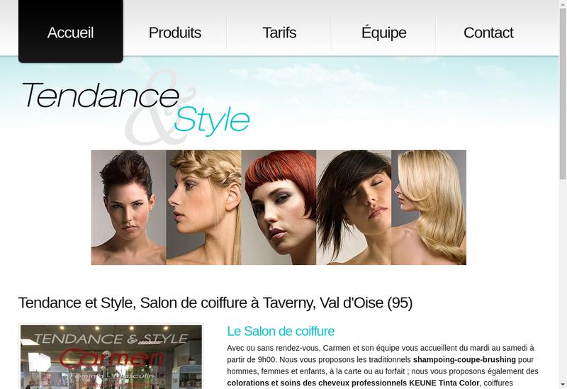 Capture d'écran du site de Tendance et Style