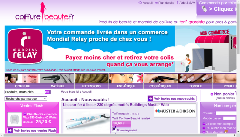 Capture d'écran du site de Sublimea