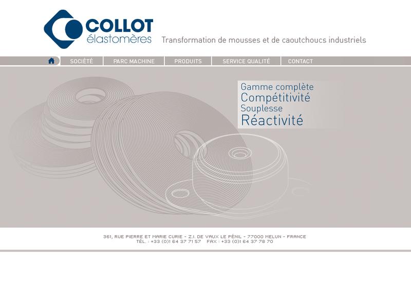 Capture d'écran du site de Collot Elastomeres