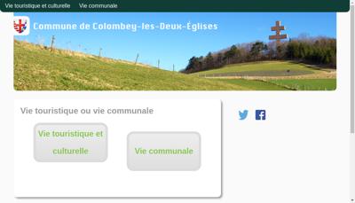 Capture d'écran du site de Colombey