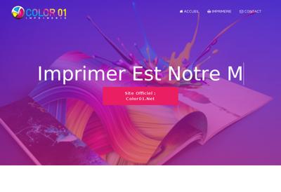 Capture d'écran du site de Bourg Offset - Infoprim - Imprimerie H