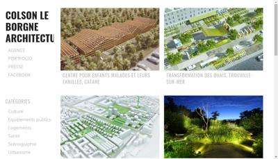Capture d'écran du site de Colson le Borgne Architecture