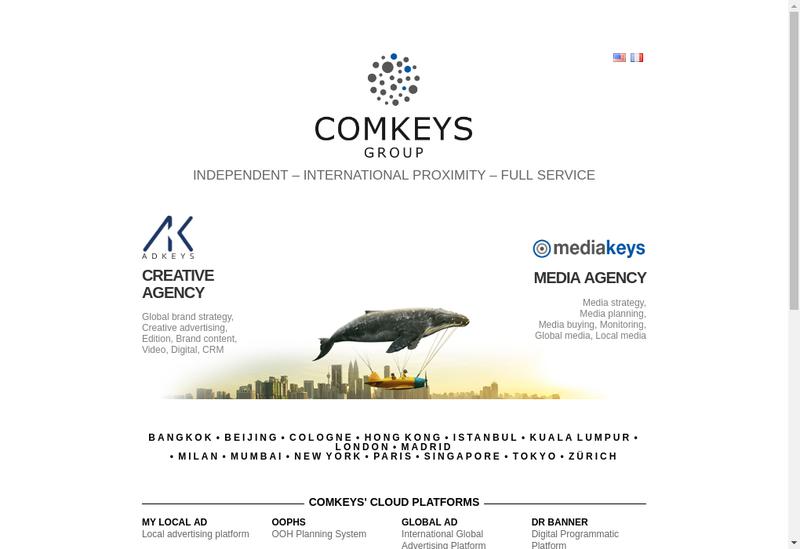 Capture d'écran du site de Comkeys