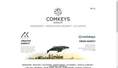 Site internet de Comkeys
