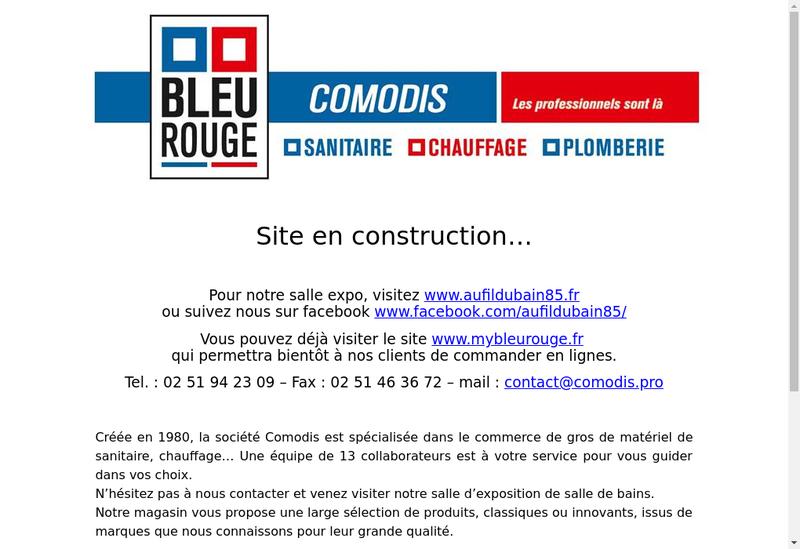 Capture d'écran du site de Comodis