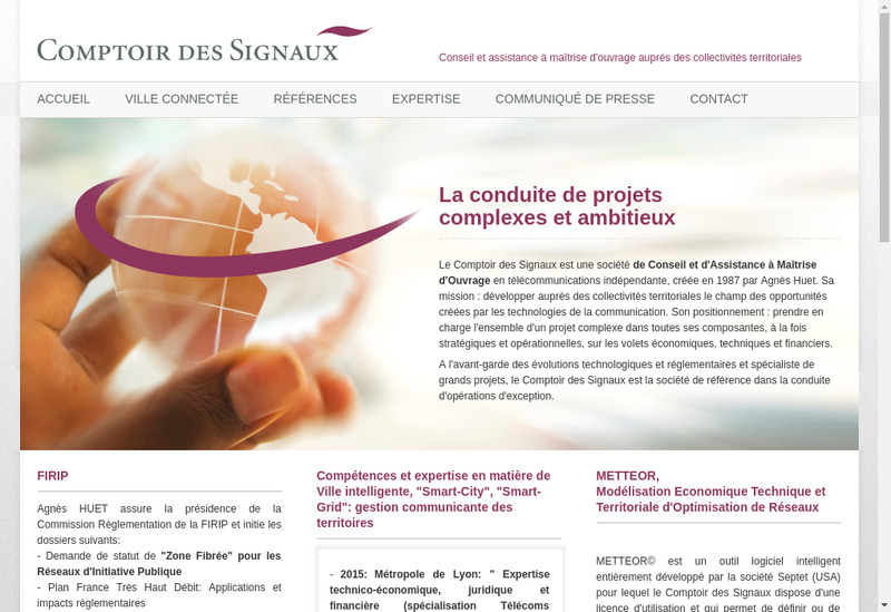 Capture d'écran du site de Comptoir des Signaux