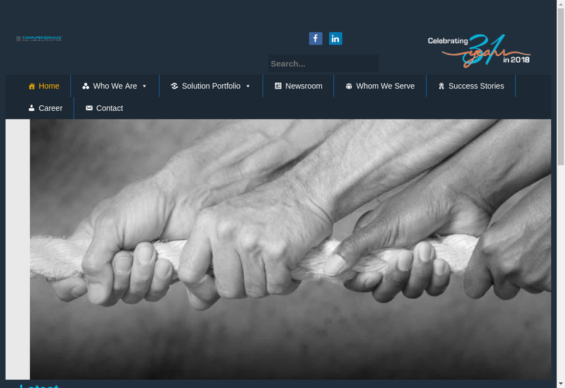 Capture d'écran du site de Management Computer Services