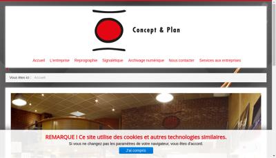 Capture d'écran du site de Concept et Plan