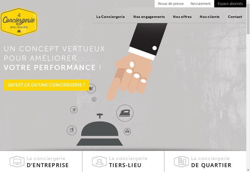 Capture d'écran du site de La Conciergerie Solidaire