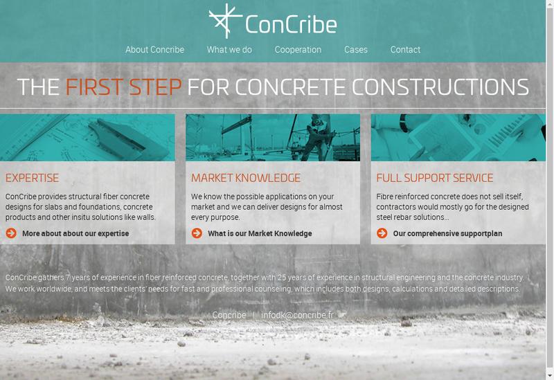 Capture d'écran du site de Concribe