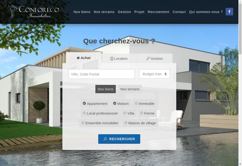 Capture d'écran du site de Conforeco Immobilier / Standing Imm