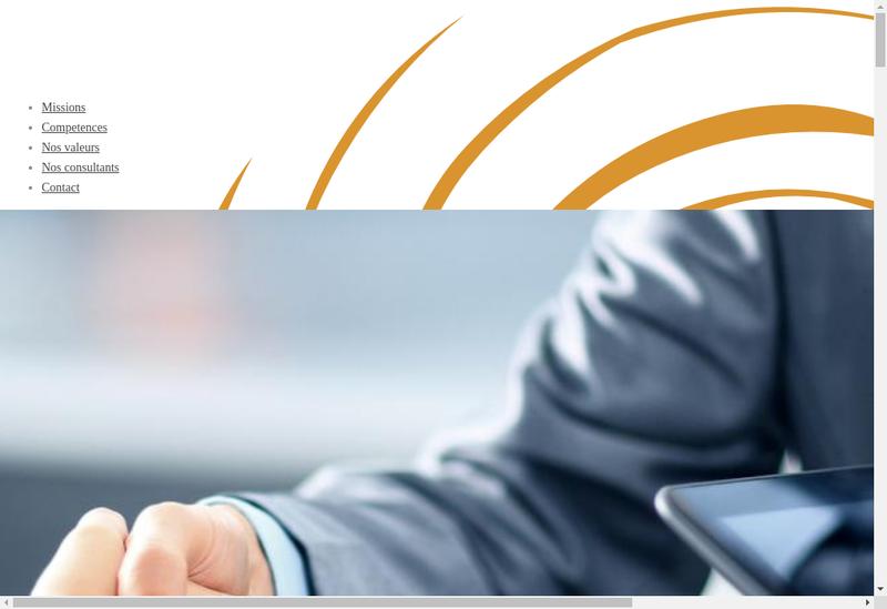 Capture d'écran du site de Consultenz