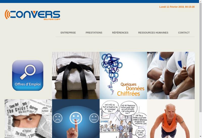 Capture d'écran du site de Convers Telemarketing