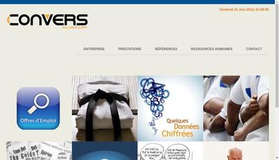 Site internet de Convers Telemarketing