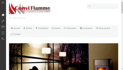 Capture d'écran du site de Conviflamme