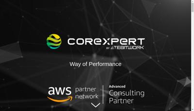 Capture d'écran du site de Corexpert