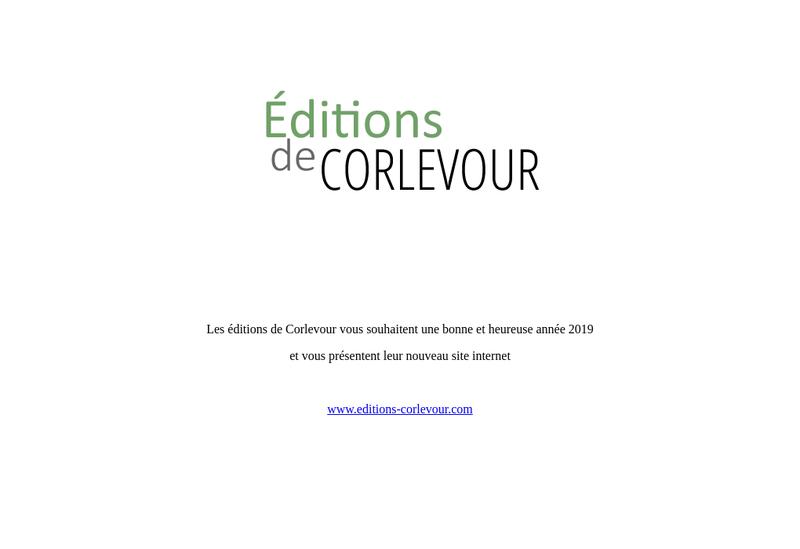 Capture d'écran du site de Editions de Corlevour
