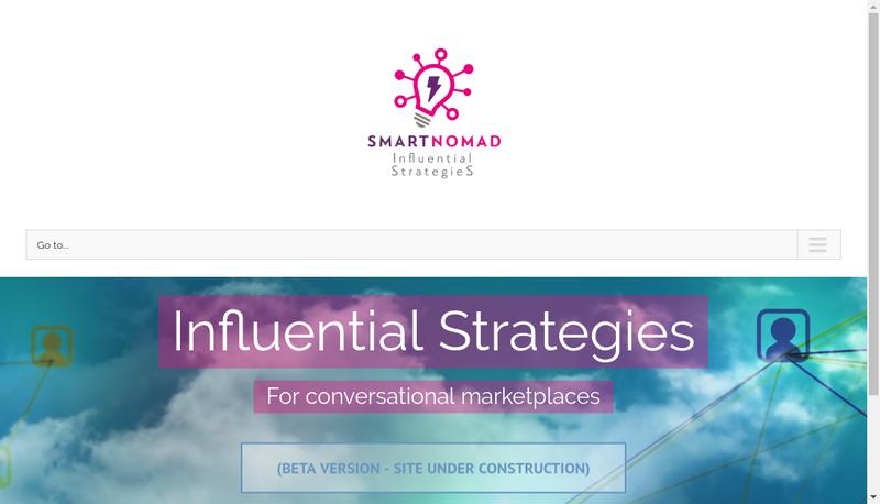Capture d'écran du site de Smartnomad