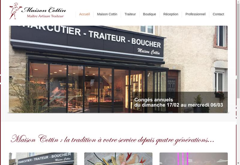 Capture d'écran du site de Maison Cottin