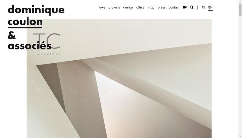 Capture d'écran du site de Coulon Architecture