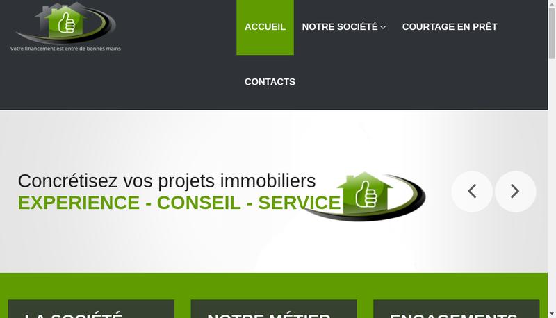 Capture d'écran du site de SARL Courtage&Solutions