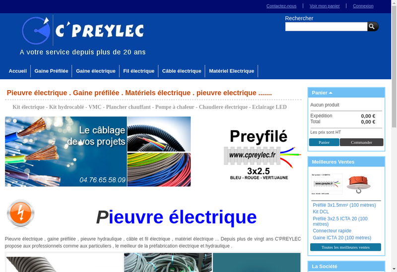 Capture d'écran du site de SARL C Preylec