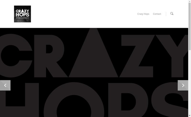 Capture d'écran du site de Crazy Hops Brasserie Artisanale