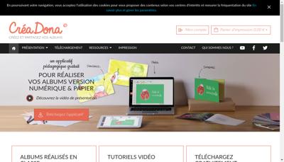 Capture d'écran du site de Pixine
