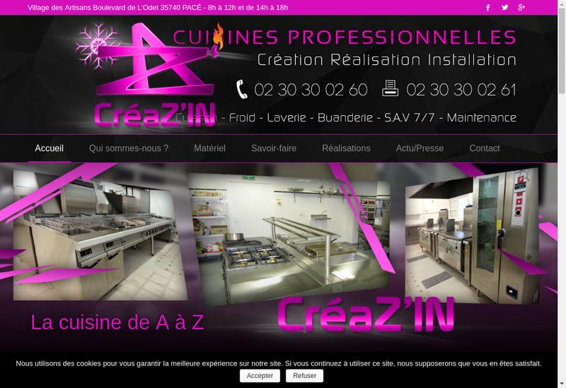Capture d'écran du site de Creaz In