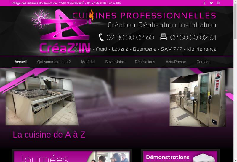 Capture d'écran du site de Creaz'In