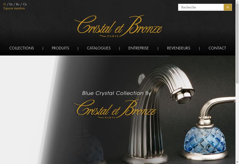 Capture d'écran du site de Cristal et Bronze