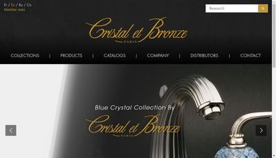 Site internet de Cristal et Bronze
