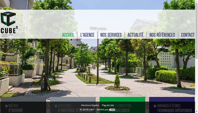 Capture d'écran du site de Cube 2