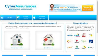 Site internet de Cyber Assurances
