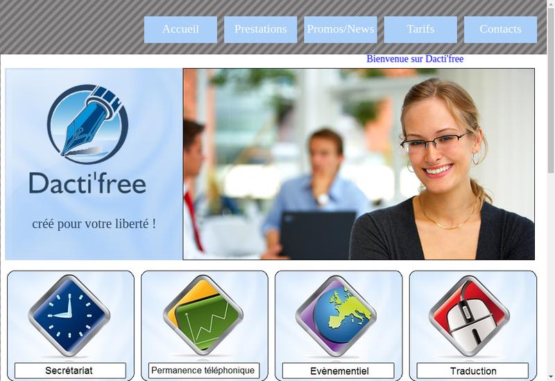 Capture d'écran du site de Dacti Free