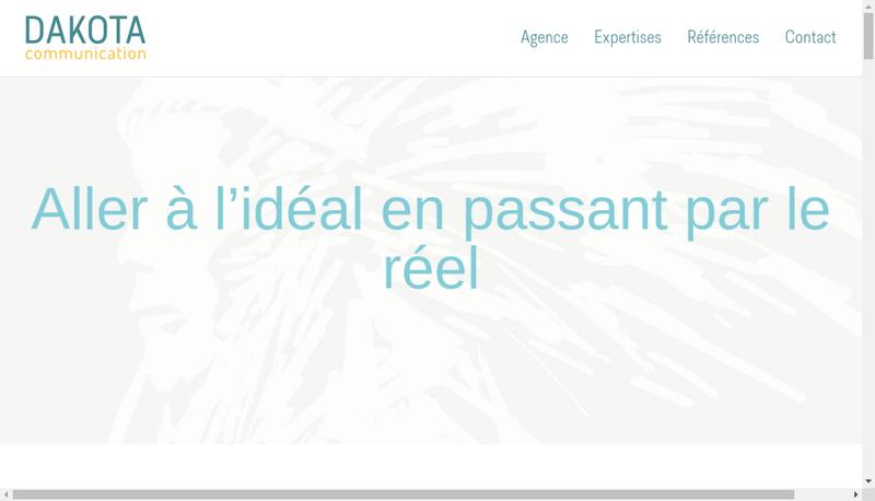 Capture d'écran du site de Dakota Communication