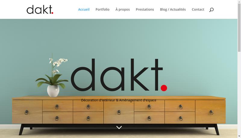 Capture d'écran du site de Dakt