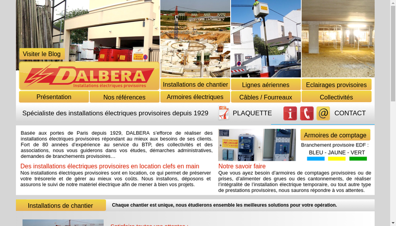Capture d'écran du site de Dalbera