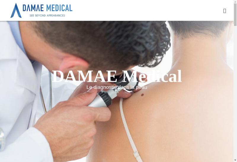Capture d'écran du site de Damae Medical