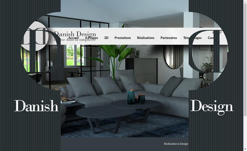 Capture d'écran du site de Danish Design