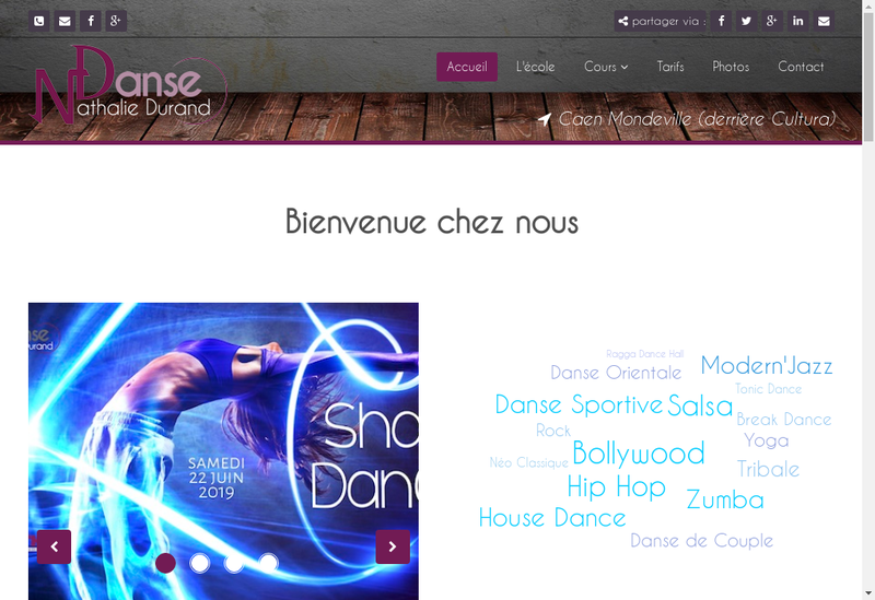 Capture d'écran du site de Nathalie Durand